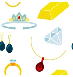 Seamless background with jewelry icons vector image