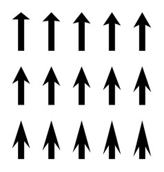 set arrows to guide pointer arrow vector image