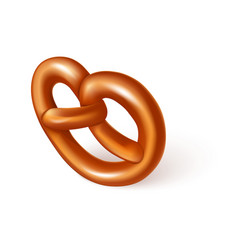 soft pretzel icon realistic style vector image