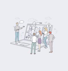 Startup business goal achievement success vector