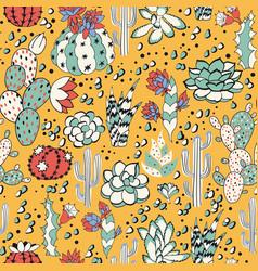 succulents in yellow desert vector image