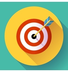 Target marketing icon with arrow symbol Flat vector image