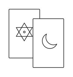 tarot line icon vector image