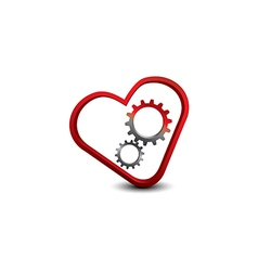 The heart with two gears EPS10 vector