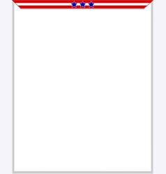 usa flag frame blank vector image
