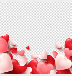 valentines day abstract background white red vector image