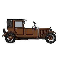 Vintage brown limousine vector