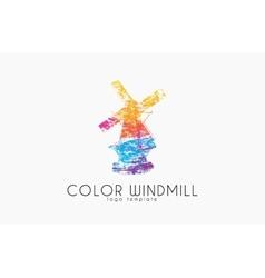 Windmill LogoColor windmill logo design Creative vector image