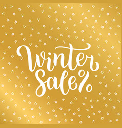 winter sale lettering design vector image