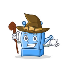 Witch pencil sharpener character cartoon vector