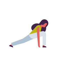 woman doing yoga exercises female cartoon vector image