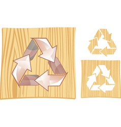 wood recycle vector image