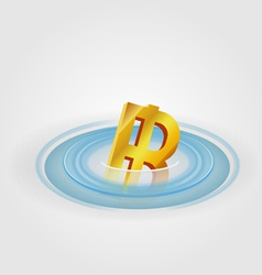 Bath ripple currency vector