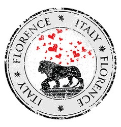 Love heart travel destination grunge rubber stamp vector image