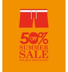 summer sale 50 discounts with clothes vector image