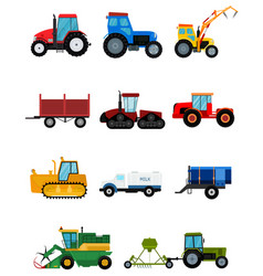 agriculture industrial farm equipment harvest vector image