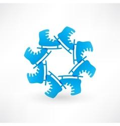 Circle of blue skates vector image vector image