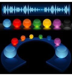 Glass Audio Background vector image vector image