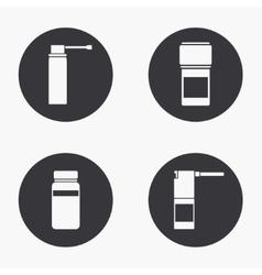 modern medical kit icons set vector image vector image