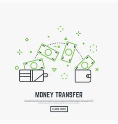 money transfer concept vector image vector image