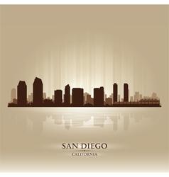 San Diego California skyline city silhouette vector image vector image