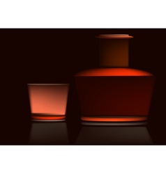 Set for whiskey vector image