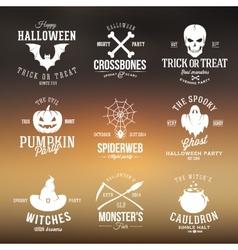 Vintage typography halloween badges or logos vector