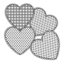 grayscale figures heart icon vector image