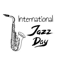 international jazz day vector image