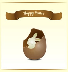 minimalistic greeting and gift card for easter vector image