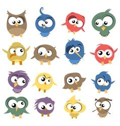 Ugly birds vector