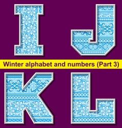 winter abc 03 vector image vector image
