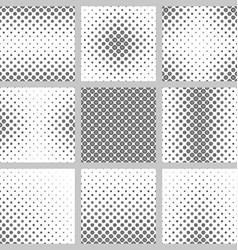 Black and white circle pattern set vector image