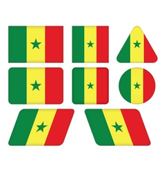 buttons with flag of Senegal vector image