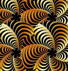 Golden fractal background vector