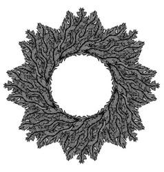 hand drawn vintage decorative wreath vector image
