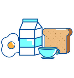 isolated breakfast design vector image