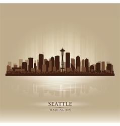 Seattle Washington skyline city silhouette vector image vector image