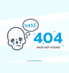 404 page not found template vector