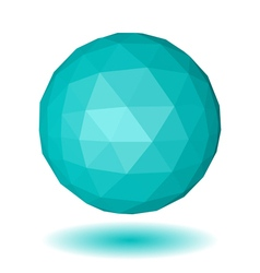 Abstract light blue low polygonal sphere vector