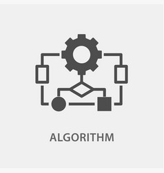 Algorithm icon for graphic vector