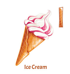 alphabet letter i ice cream vector image