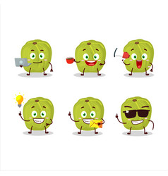 Amla with various types business emoticons vector
