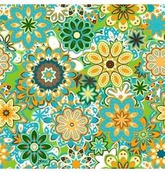 art vintage stylization floral pattern vector image