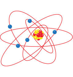 atom structure model isolate on white background vector image