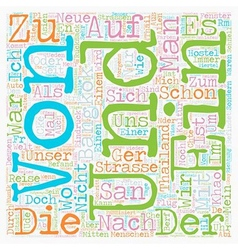 Bangkok der erste Eindruck text background vector