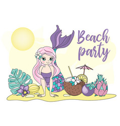 beach party sea travel clipart color vector image