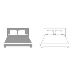 Bed the grey set icon vector