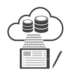 Big data icon cloud computing vector