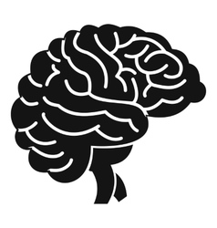 Brain icon simple style vector image